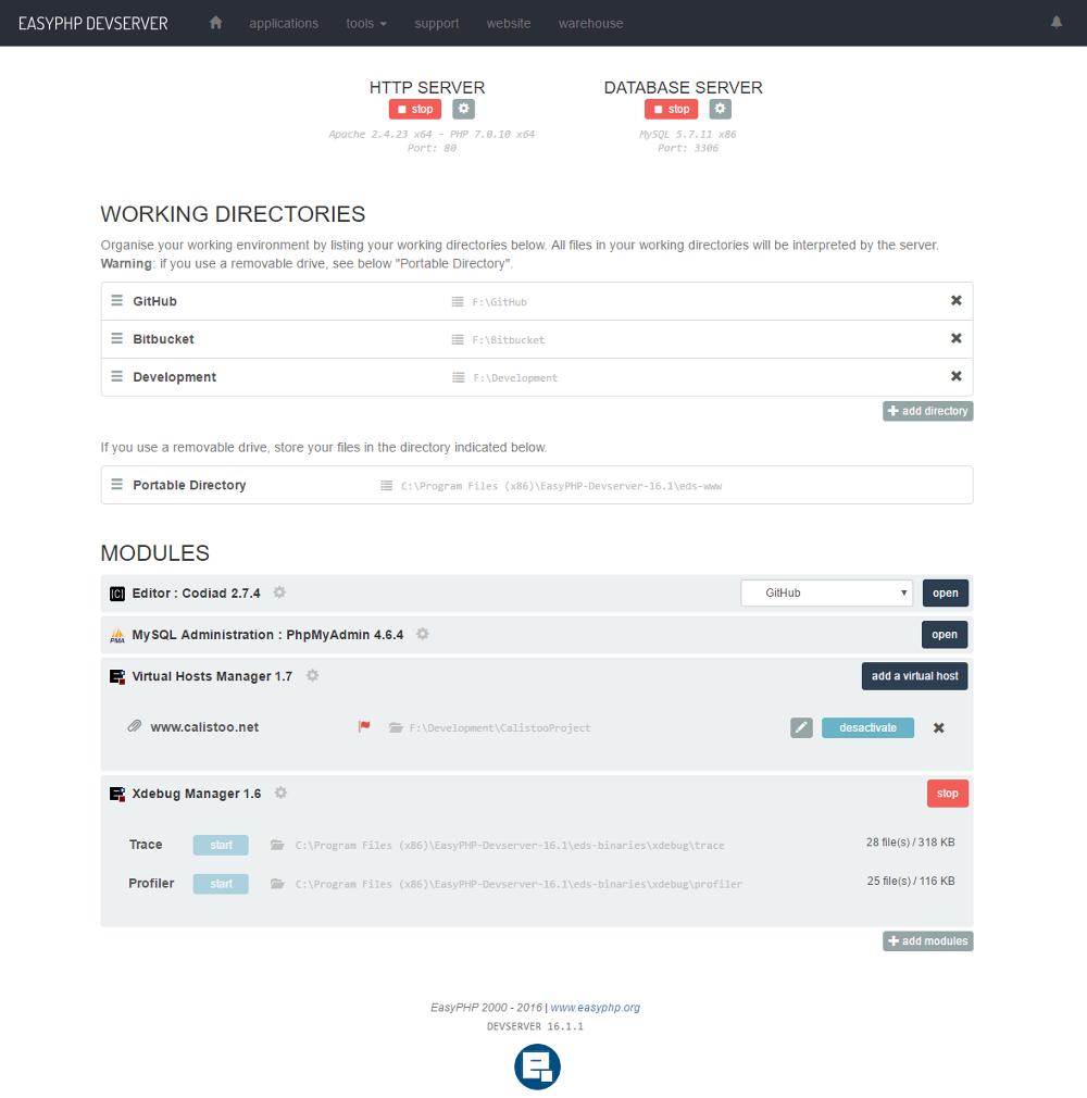 EasyPHP Devserver | Documentation Devserver - Xdebug Manager